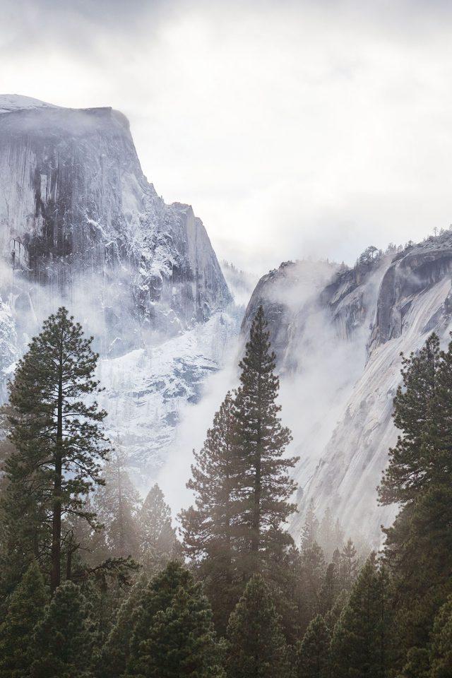 Yosemite Snow White Mountain Nature Iphone 8 Wallpaper