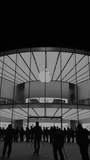 Apple Store Event City Architecture Dark iPhone 8 wallpaper