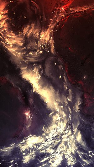 Art Painting Illust Art Hurricane Abstract iPhone 8 wallpaper