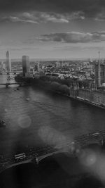 England London Dark Bw Skyview City Flare Big Ben Nature iPhone 8 wallpaper