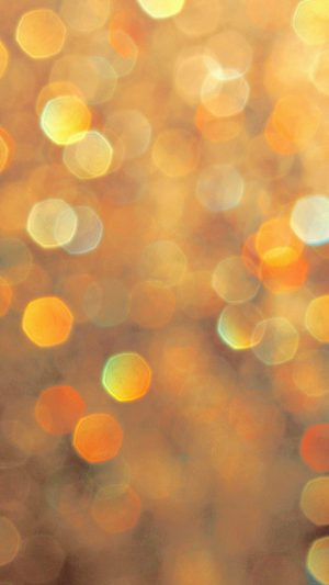 Light Bokeh Orange Pattern iPhone 8 wallpaper