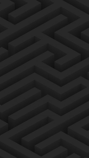 Maze Art Dark Abstract Patterns iPhone 8 wallpaper