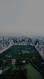 New York Dark Central Park Skyview Nature City iPhone 8 wallpaper