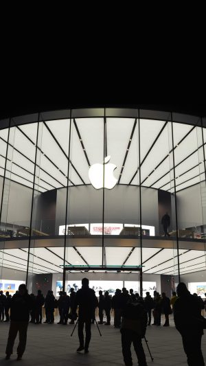Photo Apple Store Event City Architecture iPhone 8 wallpaper