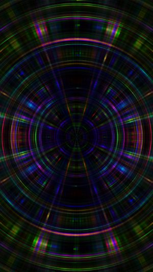 Psychic Color Circle Abstract Dark Rainbow Pattern iPhone 8 wallpaper