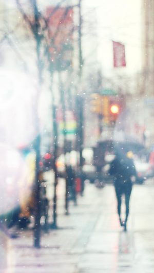 Snow Street Bokeh Flare Winter Walk City Day Nature iPhone 8 wallpaper