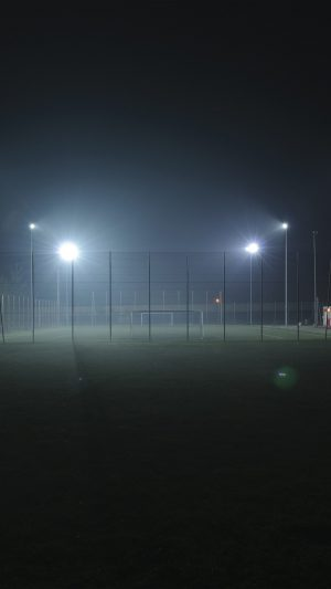 Soccer Field City Night Light Dark iPhone 8 wallpaper