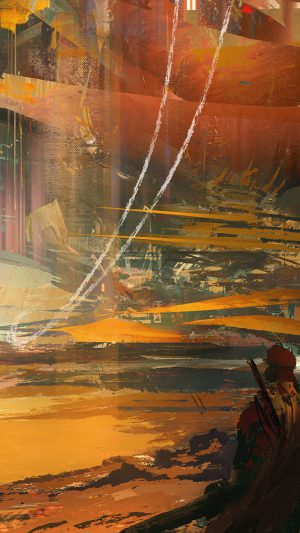 Wadim Kashin Paint Abstract Red Illustration Art iPhone 8 wallpaper