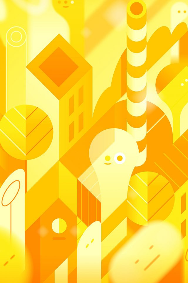 Android Lollipop Lg Yellow Cute Illust Pattern iPhone wallpaper