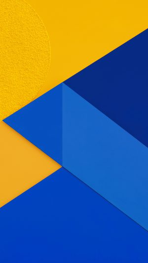 Android Marshmallow New Blue Yellow Pattern iPhone 8 wallpaper