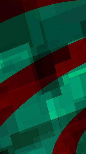 Art Green Red Block Angle Abstract Pattern iPhone 8 wallpaper