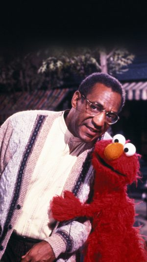 Bill Cosby With Sesame Street Elmo iPhone 8 wallpaper