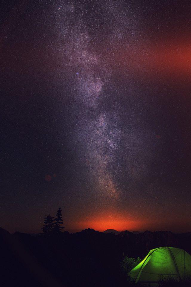 Camping Night Star Galaxy Milky Sky Dark Space Iphone 8 Wallpaper Iphone8wallpapers Com