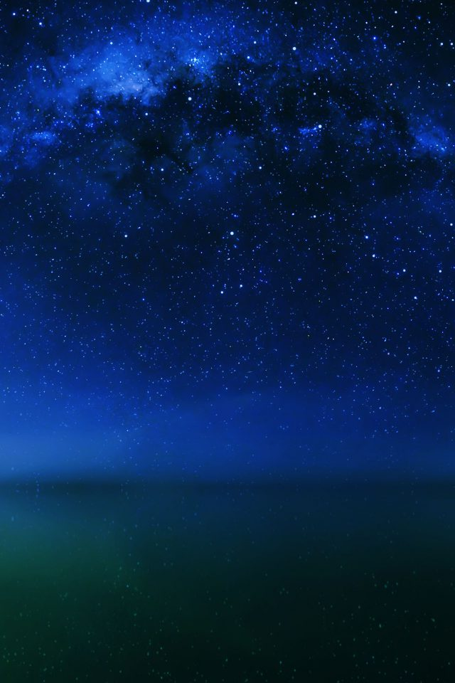Cosmos Night Live Lake Space Starry iPhone wallpaper