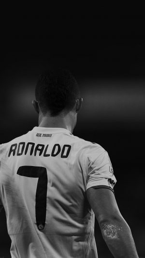 Cristiano Ronaldo 7 Real Madrid Soccer Dark iPhone 8 wallpaper