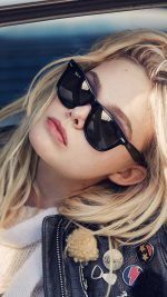 Elle Fanning Model Glasses Cute iPhone 8 wallpaper