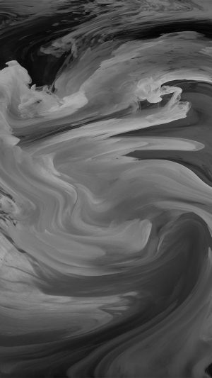 Hurricane Swirl Abstract Art Paint Dark Bw Pattern iPhone 8 wallpaper