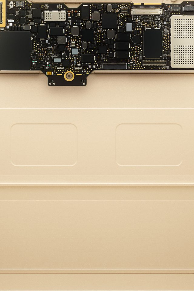 Inside Apple Mackbook Gold Art Iphone 8 Wallpaper