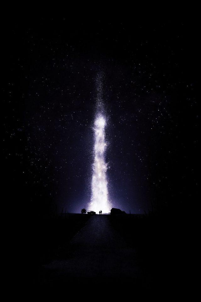 Interstellar Dark Space Night Stars Fire Best Iphone 8