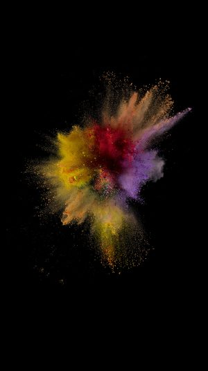 Ios9 Sparkle Color Red Yellow Apple Crayon Dark iPhone 8 wallpaper