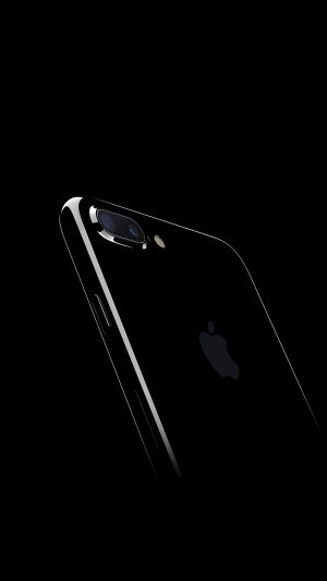 Iphone7 Jetblack Dark Apple Ios10 Art Illustration iPhone 8 wallpaper