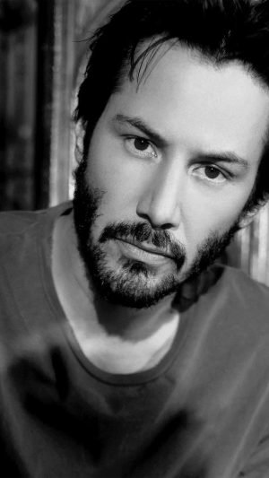 Keanu Reeves Bw Dark Actor Celebrity iPhone 8 wallpaper