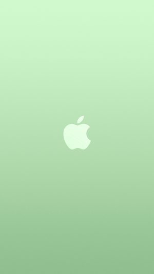 Logo Apple Green White Minimal Illustration Art Color iPhone 8 wallpaper