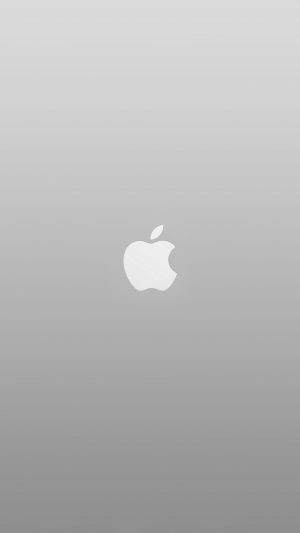 Logo Apple White Minimal Illustration Art Color Gray iPhone 8 wallpaper