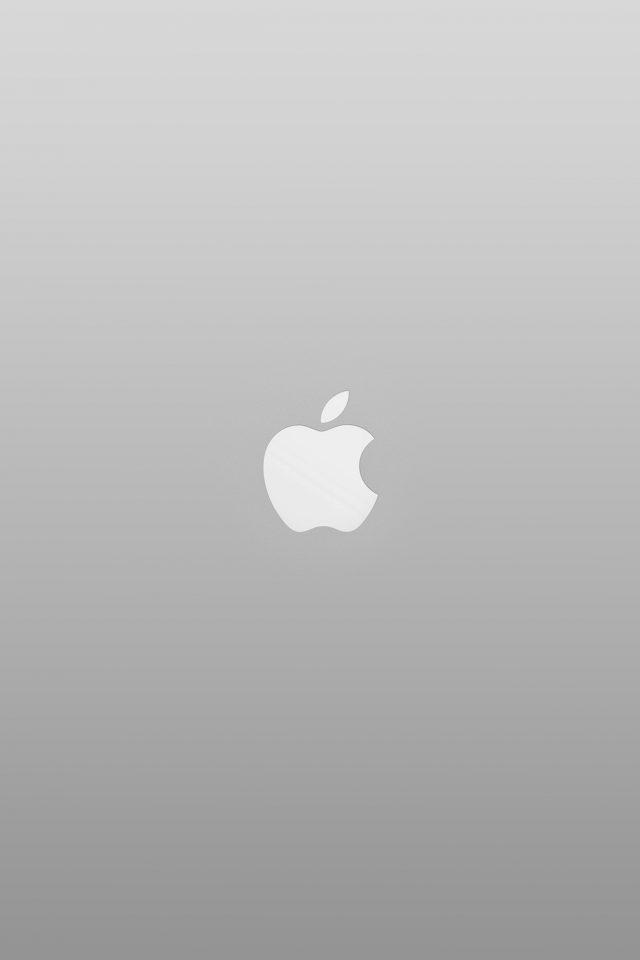 Logo Apple White Minimal Illustration Art Color Gray Iphone
