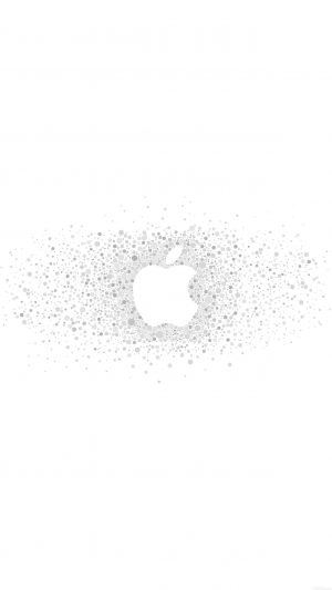 Logo Art Apple Rainbow Minimal White iPhone 8 wallpaper