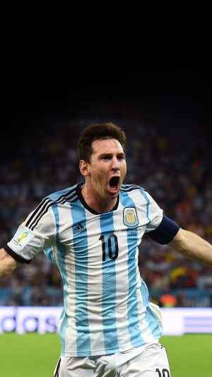 Messi Brazil Worldcup Goal Face Sports Art iPhone 8 wallpaper