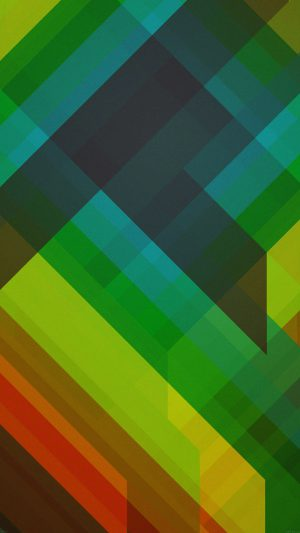 Multicolored Polygons Green Pattern Art Abstract iPhone 8 wallpaper