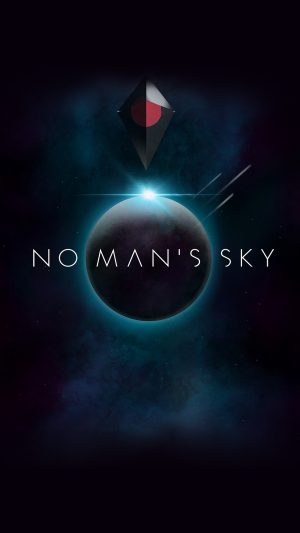 No Mans Sky Art Space Dark Illust Game iPhone 8 wallpaper