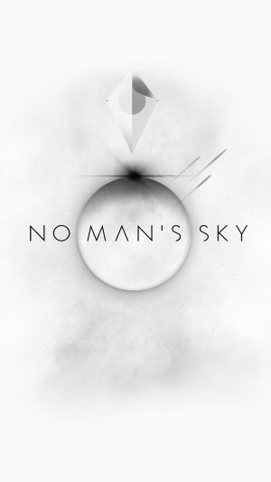 No Mans Sky Art Space White Illust Game iPhone 8 wallpaper