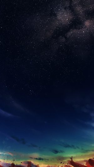 Painting Of Space Sky Nature iPhone 8 wallpaper