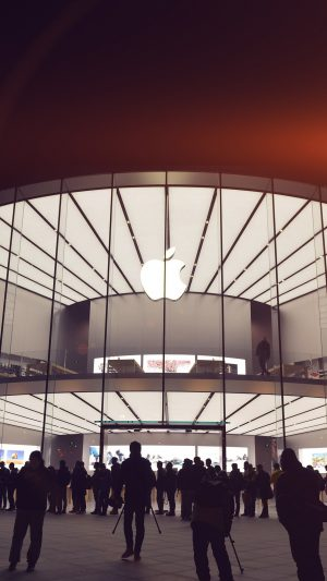 Photo Apple Store Event City Architecture Flare iPhone 8 wallpaper