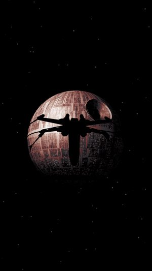Rogue One Dark Space Starwars Poster Illustration Art iPhone 8 wallpaper