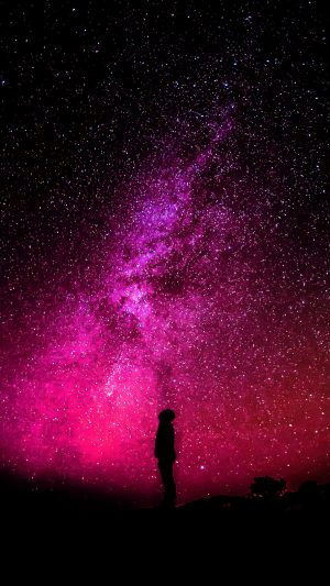 Sky Galaxy Milkyway Space Night Red iPhone 8 wallpaper