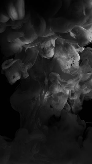 Smoke Dark Bw Abstract Fog Art Illust iPhone 8 wallpaper