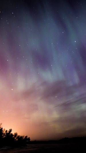 Space Aurora Night Sky iPhone 8 wallpaper