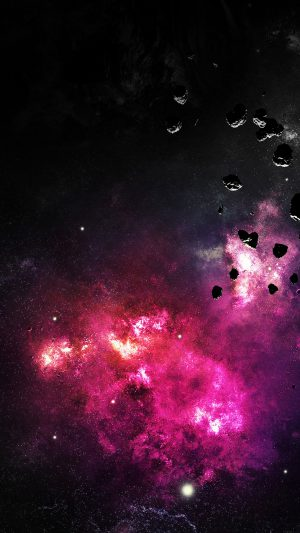 Space Planet Fire Stars Stellar Dark Nature iPhone 8 wallpaper