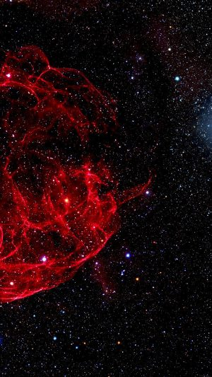 Space Red Bigbang Star Art Nature iPhone 8 wallpaper