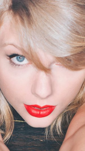 Taylor Swift Red Lips Singer Artist iPhone 8 wallpaper