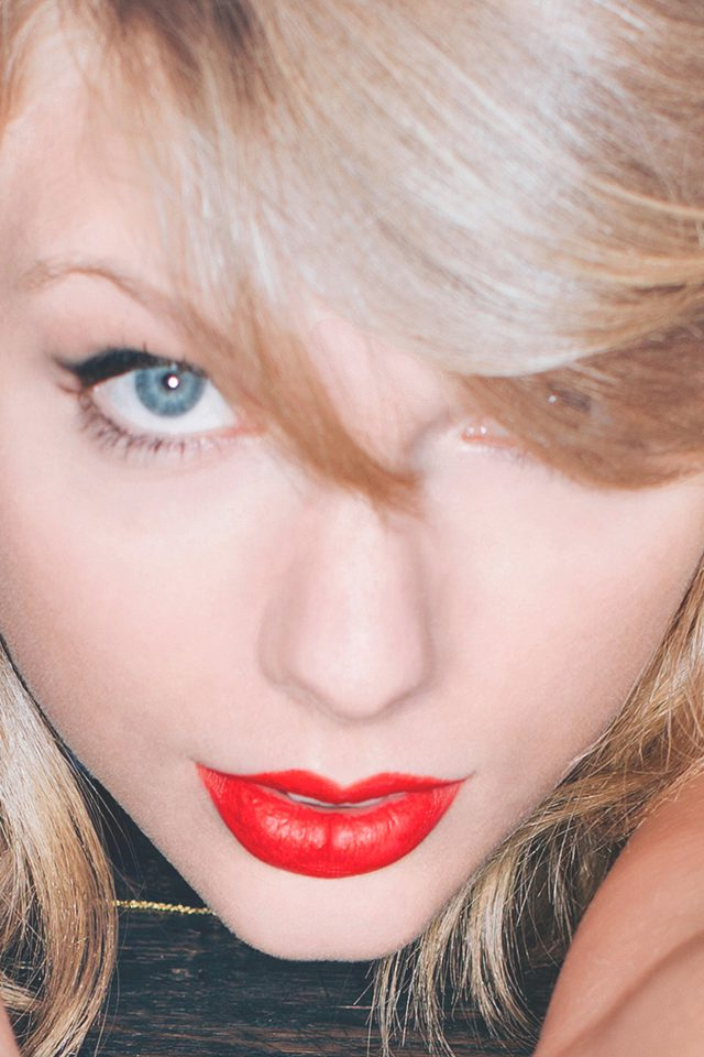 Taylor Swift Red Lips Singer Artist iPhone wallpaper
