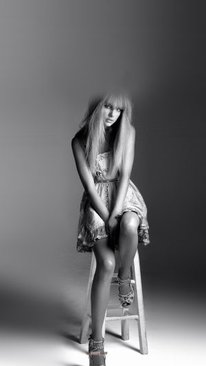 Taylor Swift Singer Bw Celebrity iPhone 8 wallpaper