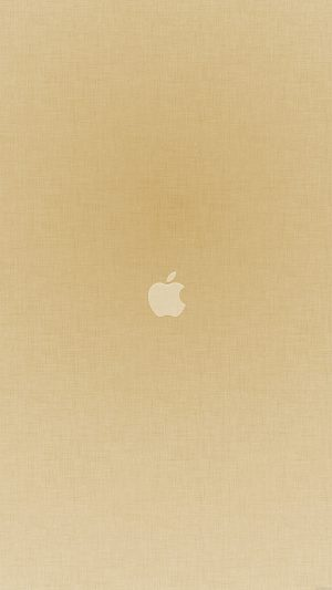Tiny Apple Gold Minimal iPhone 8 wallpaper