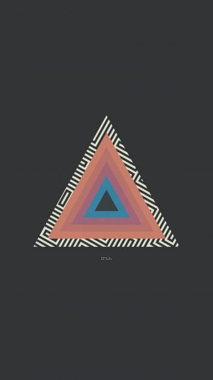 Tycho Triangle Abstract Art Illustration iPhone 8 wallpaper