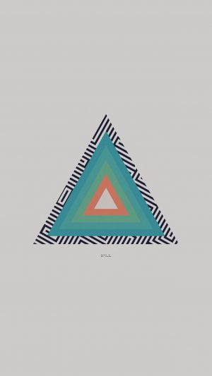 Tycho Triangle Abstract Art Illustration White iPhone 8 wallpaper