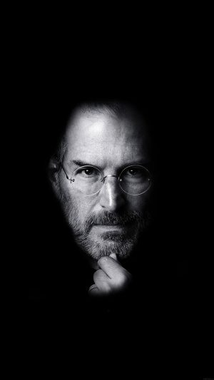 Wallpaper Steve Jobs Face Apple iPhone 8 wallpaper