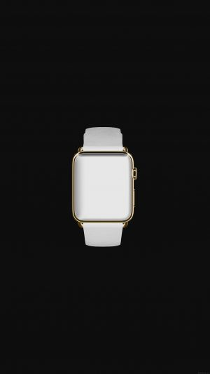 White Dark Apple Watch Simple Art iPhone 8 wallpaper